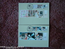 PHQ Cards FDI Front No 62 Information Technology 1982. 2 card set Mint Condition