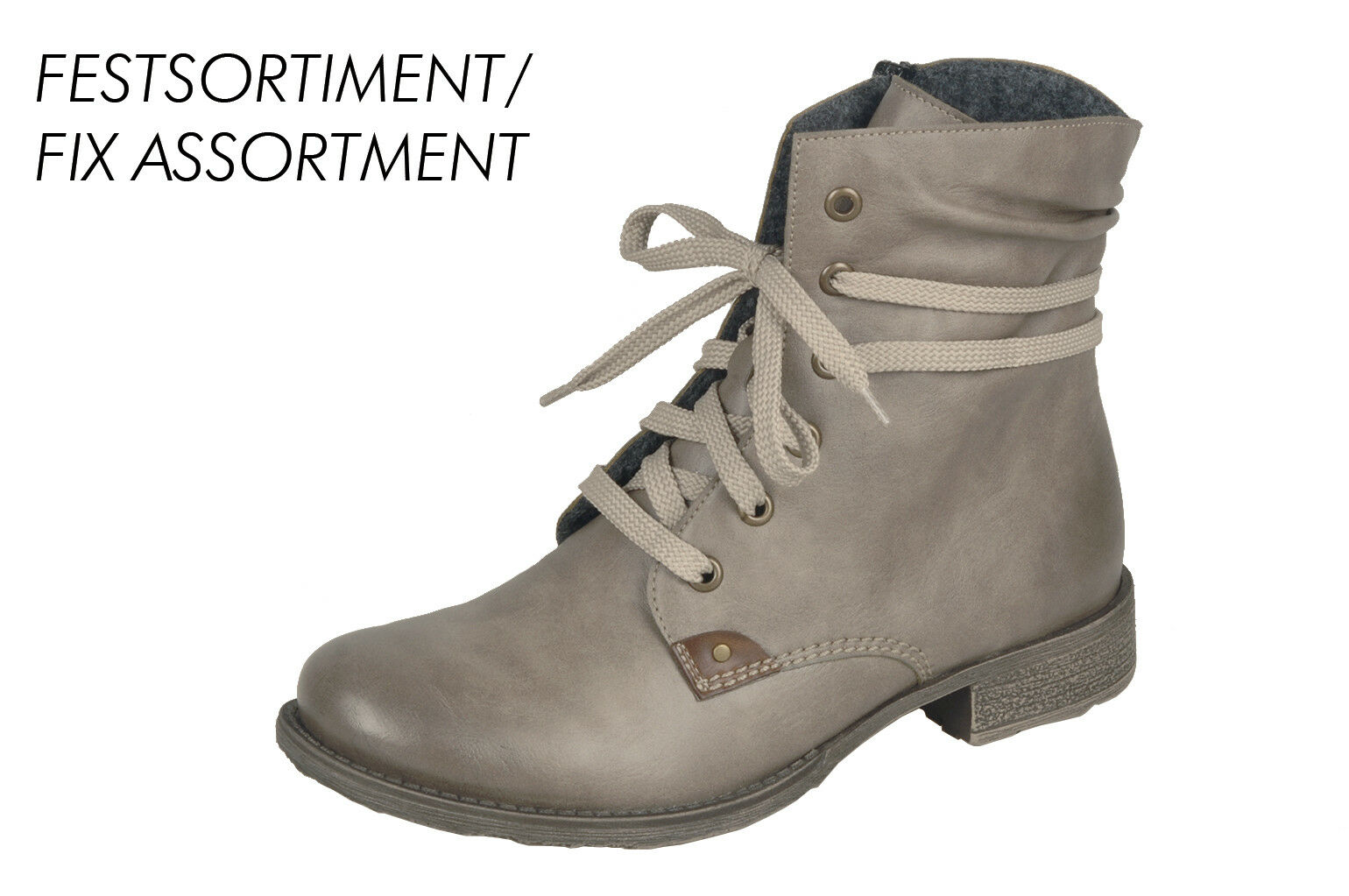 Rieker 70829 Women's Lace-Up Boots Boots Ankle Boot Boots Beige  Grey NEW