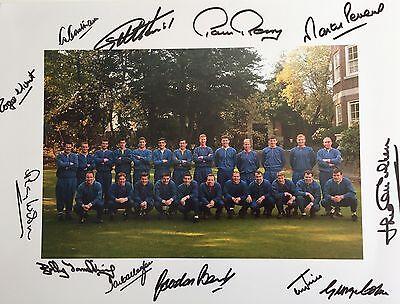 ENGLAND 1966 WORLD CUP SIGNED HURST PETERS BANKS WILSON COHEN HUNT CHARLTON ETC