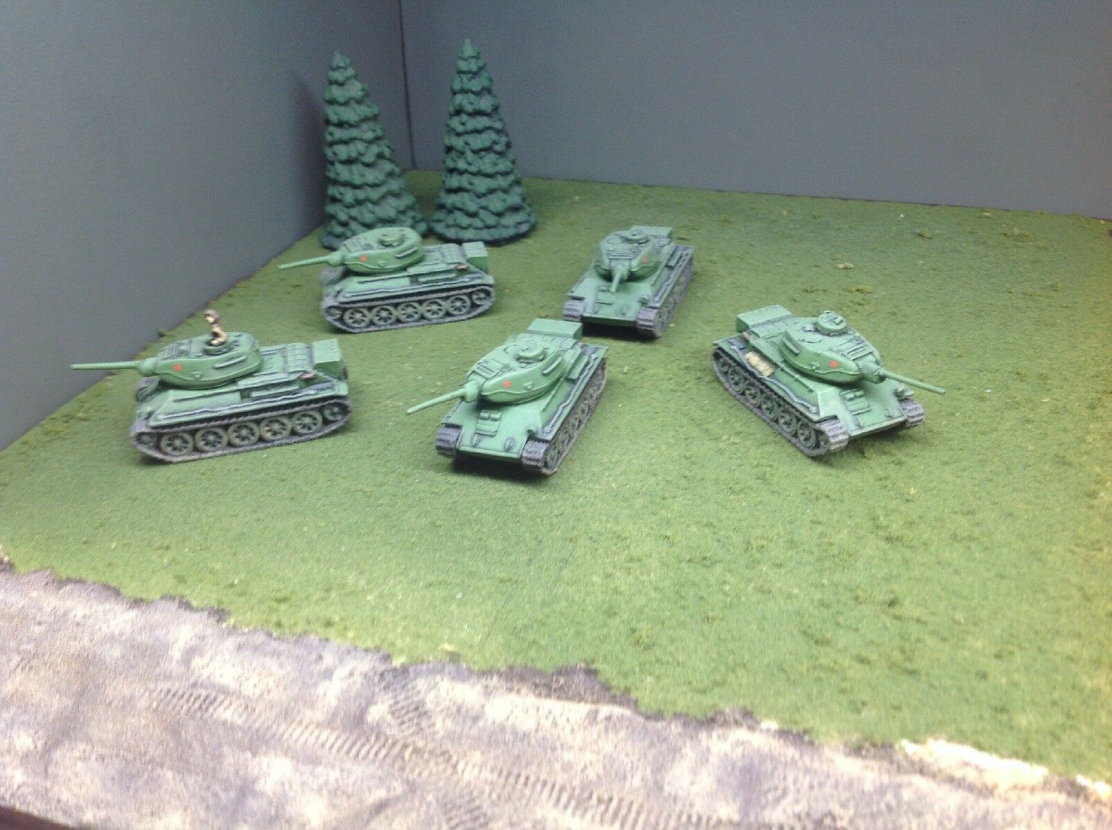 Flames Of War Soviet T-43 Platoon X5 Painted FOW
