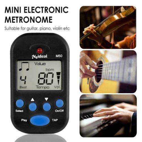 ELECTRONIC METRONOME TUNER METER For PIANO VIOLIN GUTIAR TOOL BEAT MUSIC D2B4