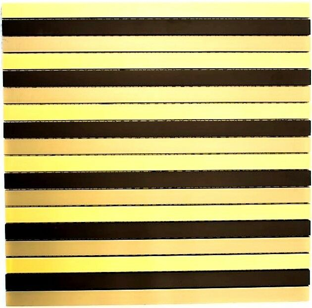 Mosaik Stäbchen Aluminium mix schwarz bronze Gold Küche Art  49-B301   10 Matten