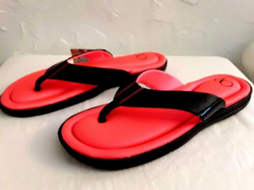 OP-YOUTH Girl Size11//12,13//1,2//3 PREMIUM-Pink//Black-Memory Foam-Durable Sandals