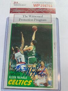 1981-82 Topps Kevin McHale Autograph Rc Card JSA Authentication COA