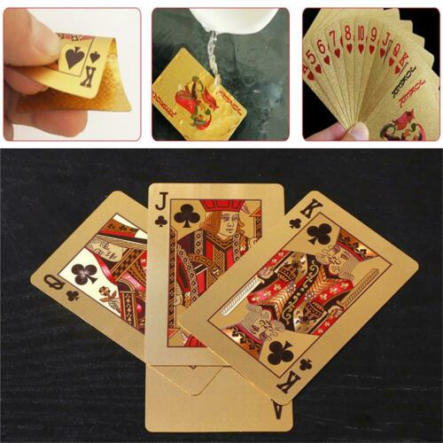 Waterproof Plastic Playing Cards Collection Gold Diamond Poker Cards Table Games
