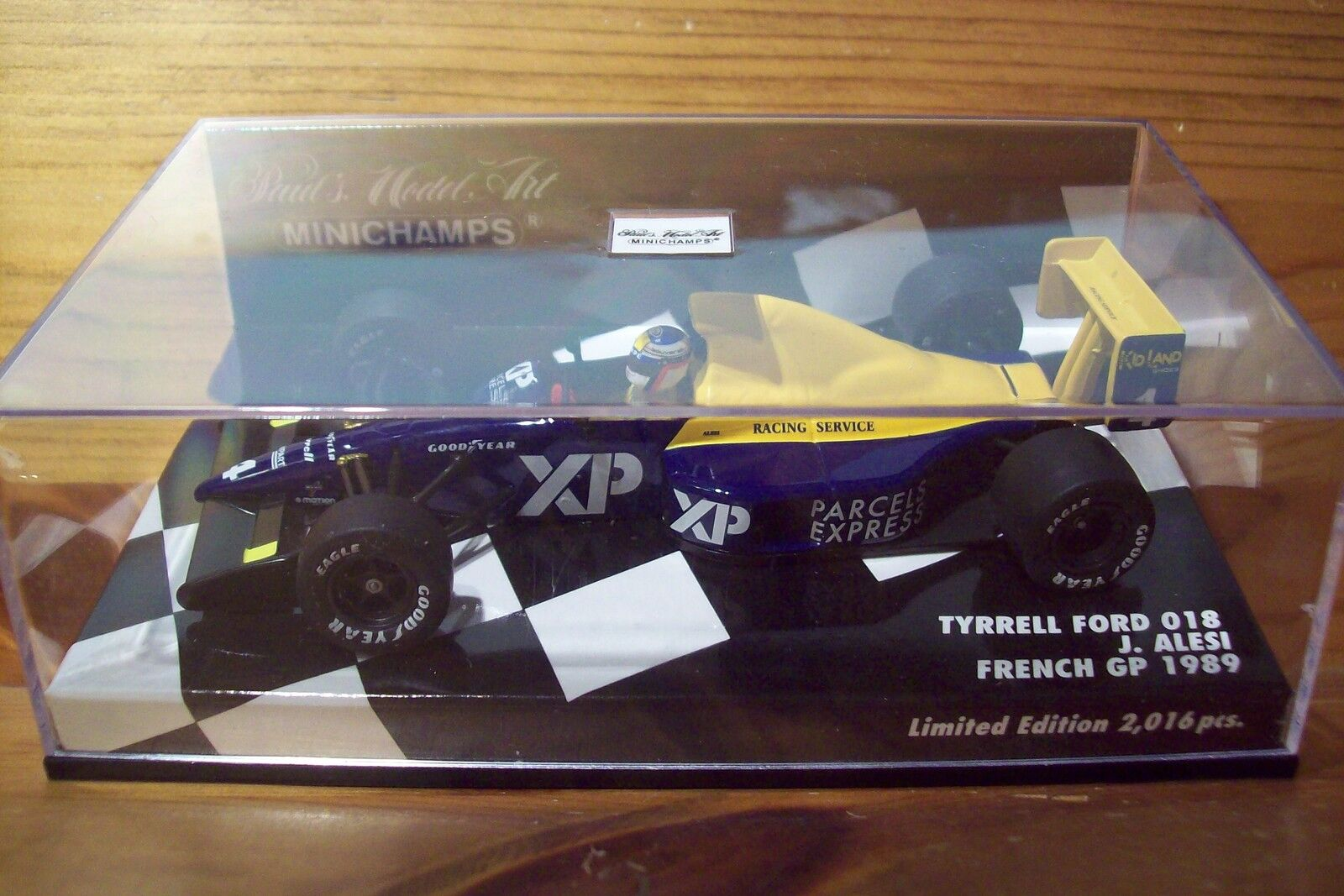1 43 TYRRELL FORD 018 JEAN ALESI FRENCH GP 1989