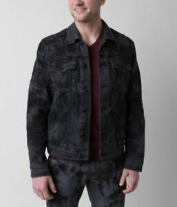 Denim New Sz Men's Jacket Small Revival Black S Nwt 6 Devin Tie Dye Rock SGqMzVpjLU
