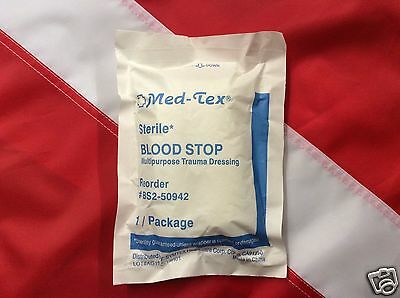 Blood Stop trauma dressing MED TEX sterile first aid emergency survival tactical