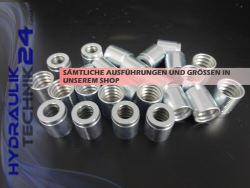 100 x Press-Fassung f 1+2SN 2SC DN 10 Hydraulik