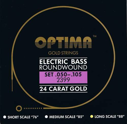 Optima Maxima  24 K Gold Bass Strings 50-105