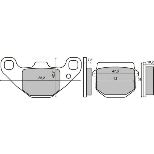 pastiglie freno POSTERIORI TGB Bullet 50 RS 50  2011 /> 2012 RMS 225102800 2T