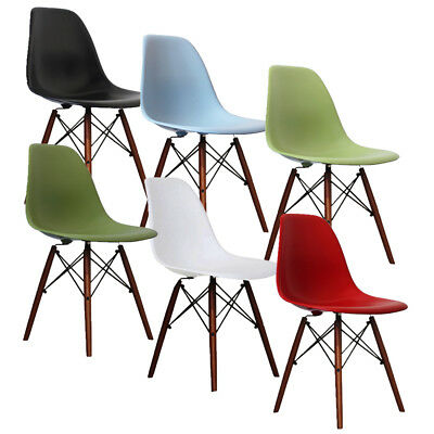Classic Colored Eiffel Chairs Retro Chair Solid Wood Legs Dining Office  Kitchen | EBay