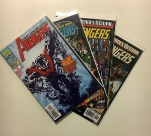 The-Avengers-Mar-2-and-Mar-2-Brave-Old-World-Apr-3-Jun-5-lot-of-4-Marvel-Comics