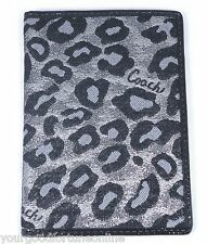 NWT Coach Ocelot Animal Silver Passport Document ID Holder Card/Case Cover 62896
