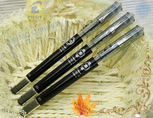 free ship 5pcs pilot hi-tec- c Maica 0.3mm needle tip ball pen BLACK free gift
