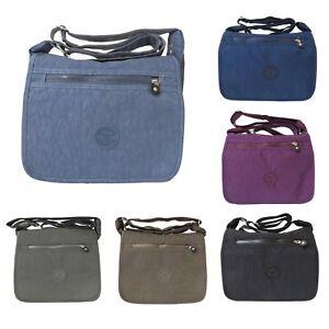 0c3d32d539 Womens Nylon Fabric Multi-Pockets Cross Body Bag Shoulder Ladies ...