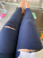 Plus-Size-M-5XL-Summer-Hole-Ripped-Jeans-Women-Jeggings-Cool-Denim-High-Waist-On thumbnail 8