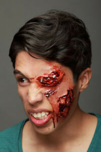 FACE-WOUND-GOUGED-EYE-SOCKET-LATEX-SCAR-APPLICATION-GRUESOME-HALLOWEEN-HORROR