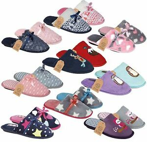Ladies womens comfort soft warm furry bedroom slip on for Mocassini da camera