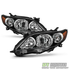 For 2011 2012 2013 Toyota Corolla Black Headlights Lamps Aftermarket Leftright