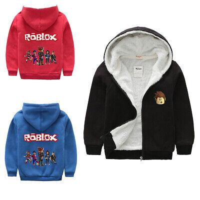 Roblox Kids Boys Girls Winter Jacket Coat Hoodie Sweatshirt