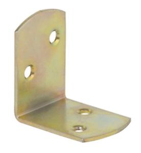 "Galvanised Corner Brace /""Yellow/"" 40x40x30x1,8mm Angle Bracket Timber Joints KO1"