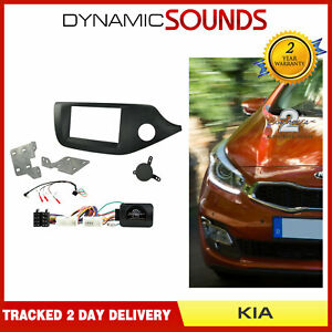 CTKKI26 Double Din Fascia Steering Adaptor Fitting Kit For Kia Cee'd, Pro Ceed