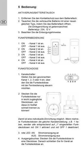 2x Funksteckdosen mit FernbedienungSteckdose Funkschalter Funk Schalter Set