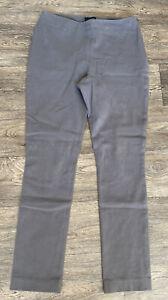 The-White-Company-Grey-Stretch-Jeggings-Skinny-Side-Zip-Size-Uk-10