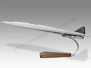 Transportation Collectables Boeing 200 Monomail United Airlines Dried Mahogany Wood Handmade Desktop Model