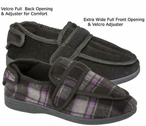 Mens-EEE-Fit-Diabetic-Orthopaedic-Extra-Wide-Opening-House-Hard-Sole-Slippers