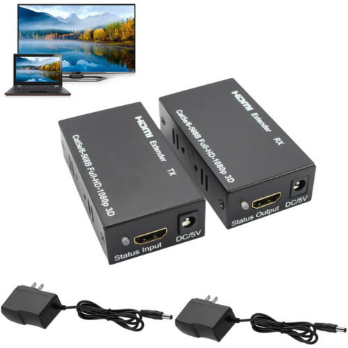 1080P HDMI Network Extender Over Single Cable with IR CAT5E//6 Ethernet RJ45 FHD
