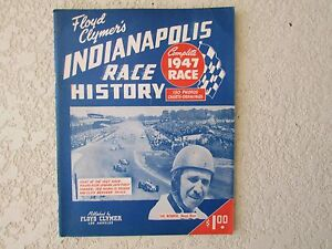 1947-Indianapolis-Indy-500-auto-race-History-yearbook-Clymer-Mauri-Rose-Offy-win