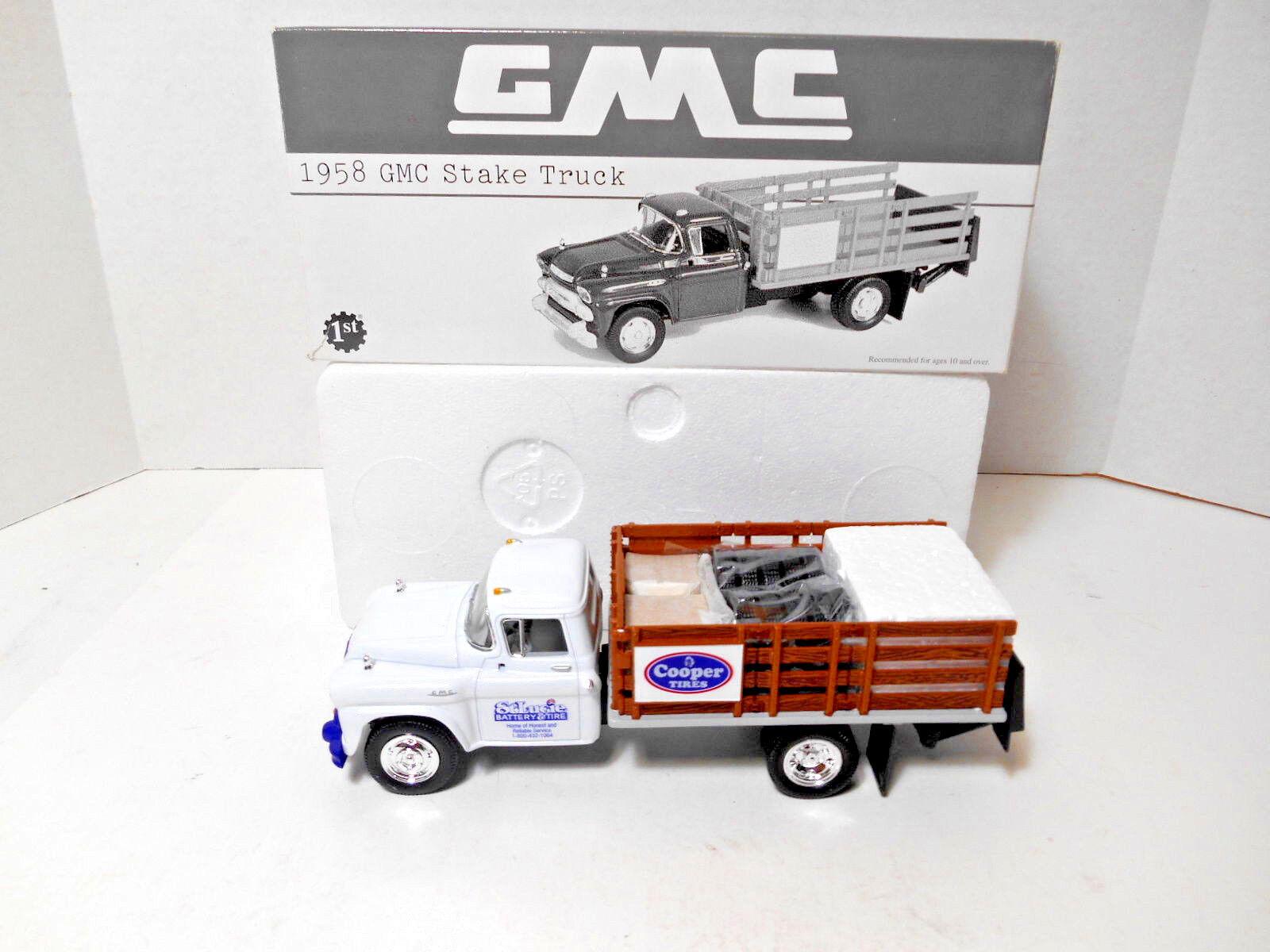 ventas en linea 2001 First Gear' 1958 camión GMC Estaca-St. Lucie Batería y y y neumáticos's 1 34  preferente