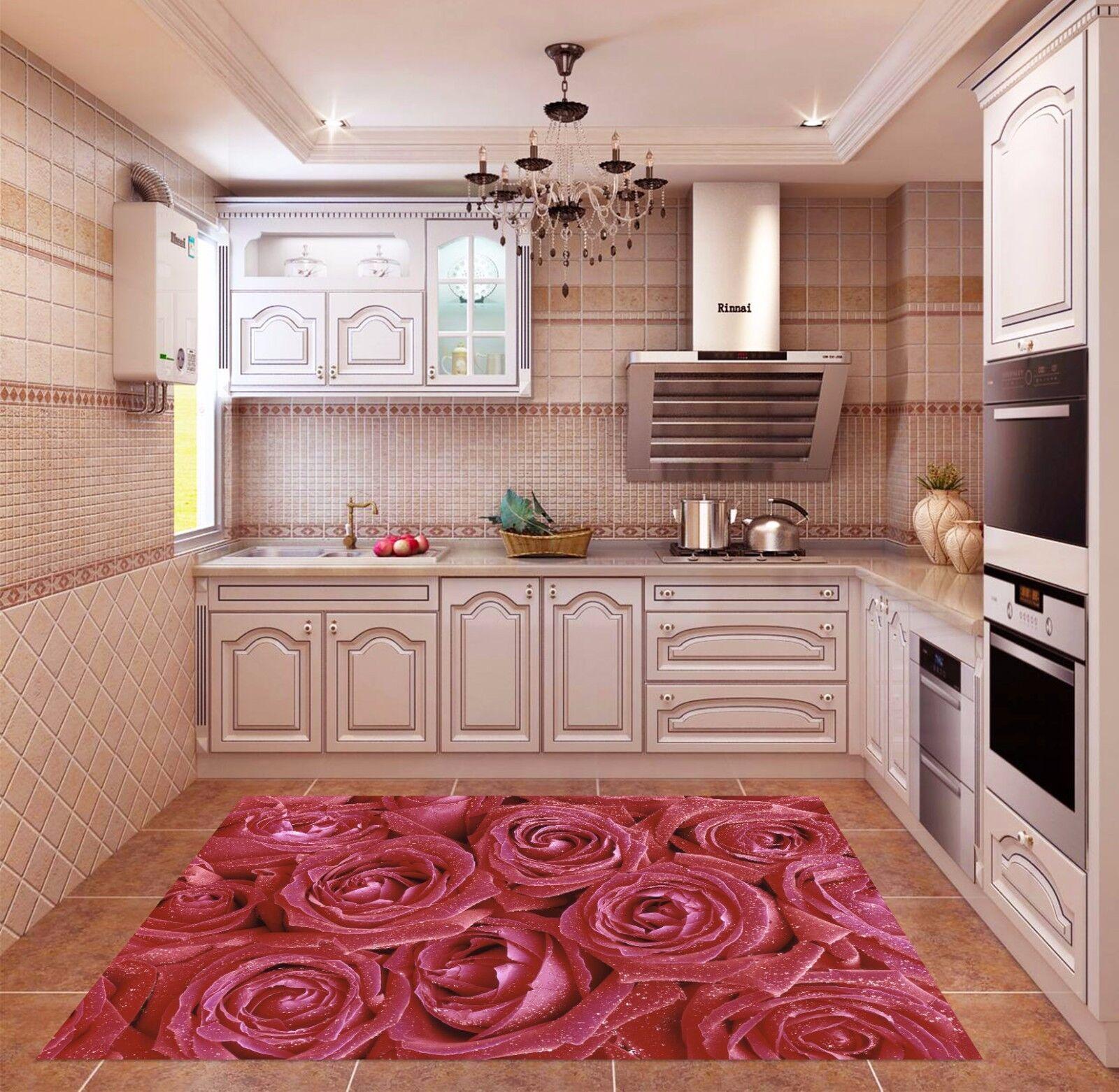 3D Flowers Dews 5 Kitchen Mat Floor Murals Wall Print Wall Deco AJ WALLPAPER AU