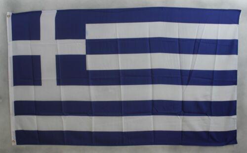 Griechenland Flagge 90 x 60 cm wetterfest Fahne Ösen Innen /& Außen Hissflagge