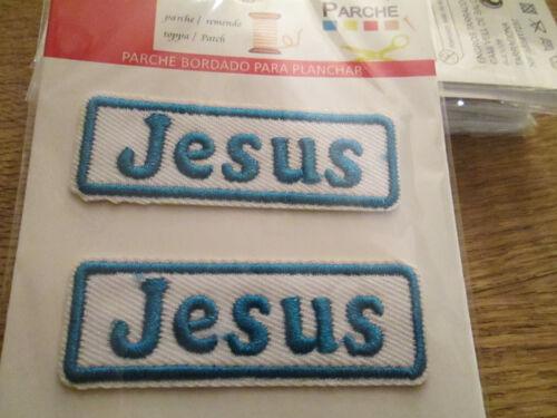 Jesus Namenszug 2 Stück  Aufnäher//Aufbügler ca 6 cm x 2 cm