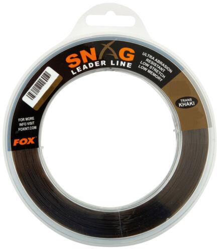 Fox Snag Leader Line Trans Khaki Snagleaderline Schlagschnur Monofil