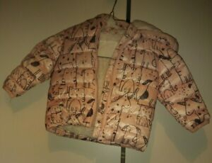 Details about F&F Tesco Baby Girls Pink Quilted JacketCoat with hood 3 6 months Preloved