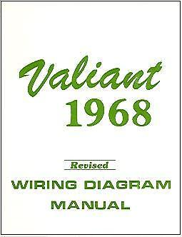 68 valiant wiring diagram 1968 68 plymouth valiant wiring diagram manual ebay  1968 68 plymouth valiant wiring diagram
