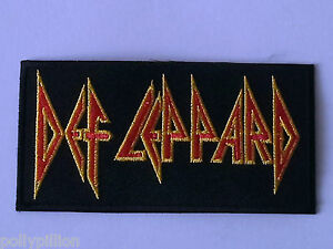 PUNK-ROCK-HEAVY-METAL-MUSIC-SEW-ON-IRON-ON-PATCH-DEF-LEPPARD-a-STRIPE