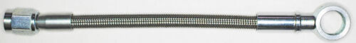 """AN-3  30/"""" long ST X ST banjo 12M  NC stainless steel braid hose"""