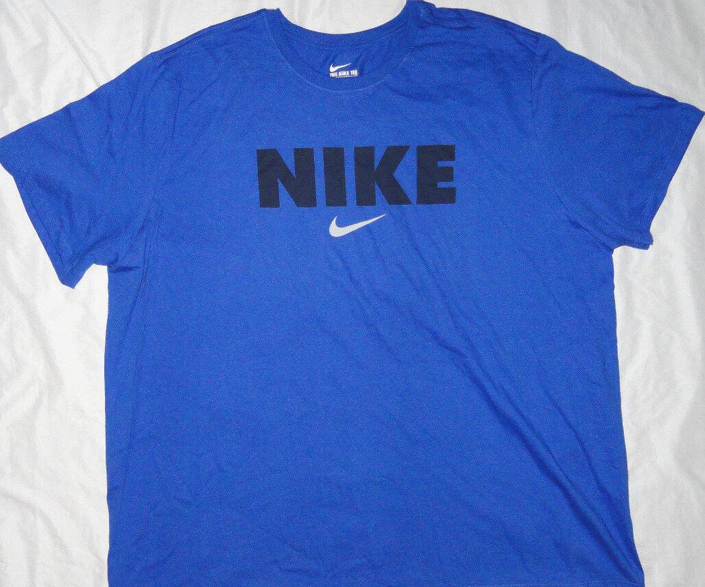 NEW  NIKE Short Sleeve T-Shirt Mens 4X 4XL XXXXL bluee NWT