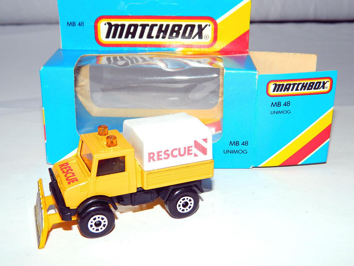 1983 Matchbox No.48 Unimog Snow Vehicle Die-cast Car Toy Lesney & Co