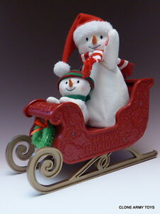 2016 Singing Snowman Twinkling Sleigh Ride Hallmark Jingle Pals