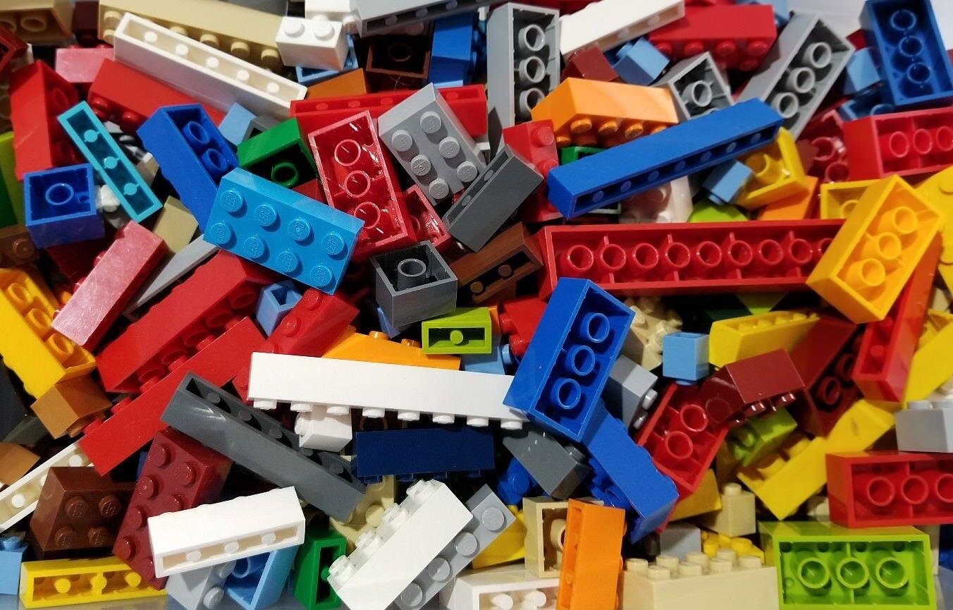 LEGO 100 MIXED Parts /& Pieces 1//4 pound Bricks Bulk Lot lb BUY 4 get 1 more FREE