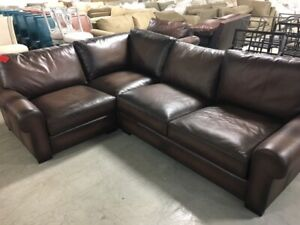 Enjoyable Details About Pottery Barn Turner Leather Sofa Sectional 3 Pc Burnt Walnut Love Corner Chair Spiritservingveterans Wood Chair Design Ideas Spiritservingveteransorg