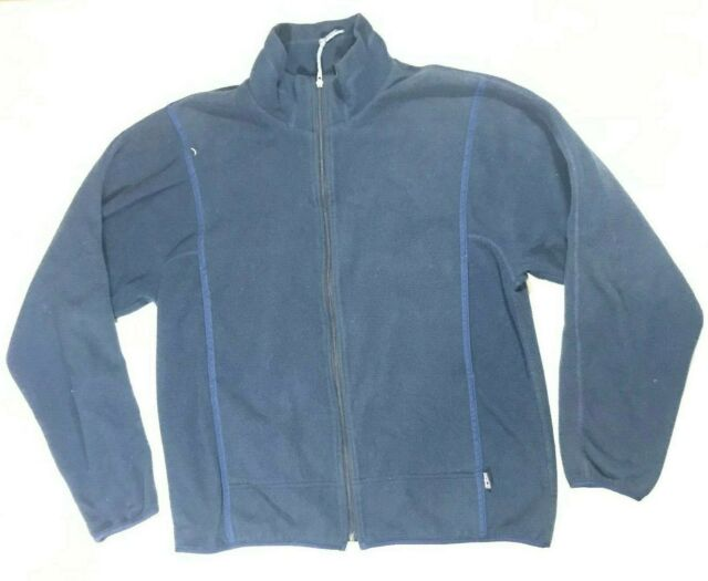 Patagonia Synchilla Vintage Navy Blue Sweater Mens Size L  Zip Up Fleece VTG
