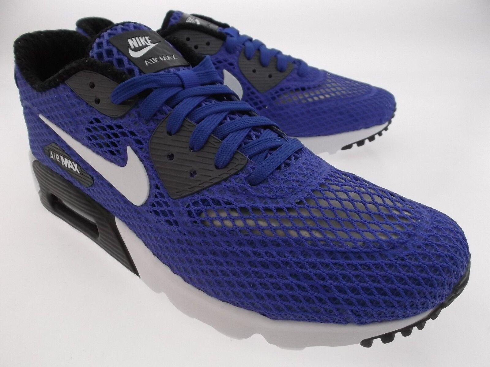 810170-401 Nike Men Air Max 90 Ultra BR Plus QS blue racer blue white dark gray  Cheap and beautiful fashion