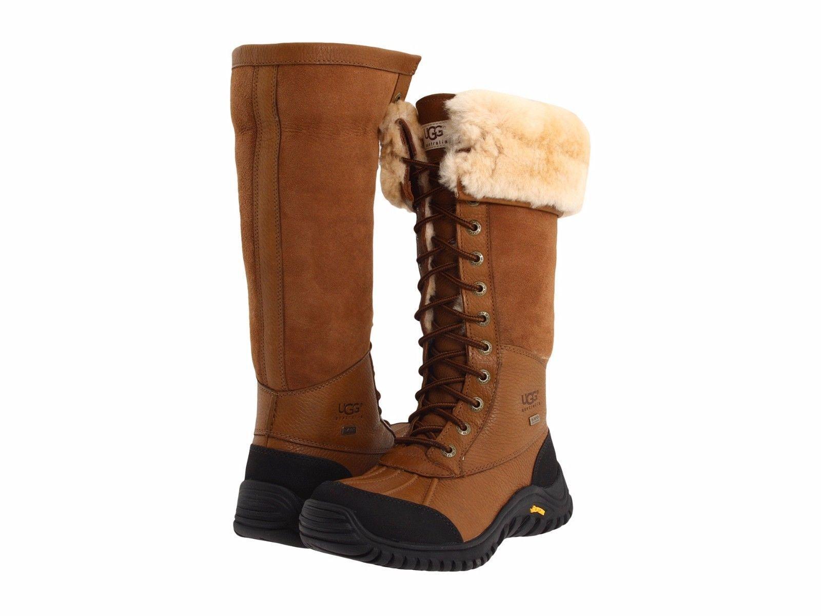 Damenschuhe UGG Adirondack Tall Wasserdichte Schnürstiefel 5498 Otter * New *